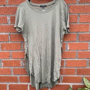 Long length green T-shirt